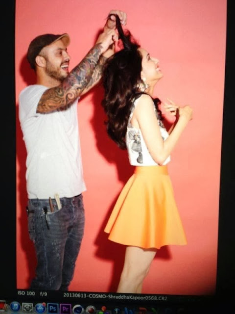 Shraddha Kapoor on the sets of her Cosmopolitan covershoot