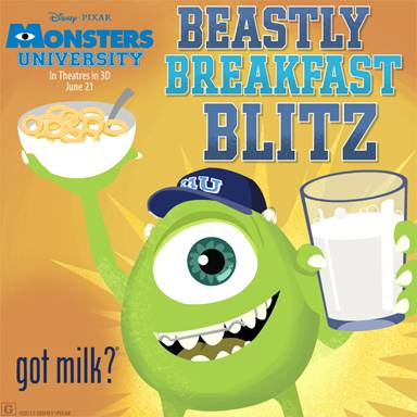 #MonstersU Beastly Breakfast Blitz Game