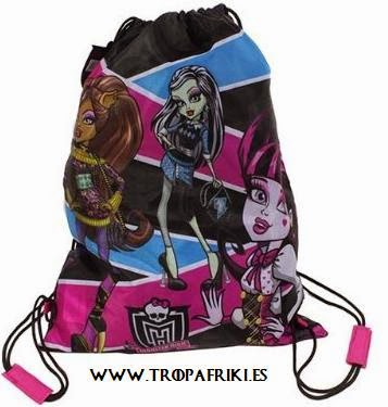 mochilas cuerdas frikis Bolsa de cuerdas Monster High 5,50€