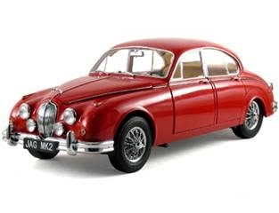 Jaguar Diecast  Model Icons 10001 1962 Jaguar MK II 3.8L Red
