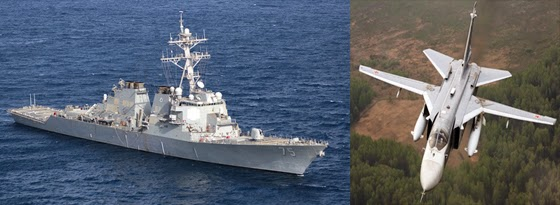 "The guided missile destroyer USS Donald Cook: It looks lethal - Maybe against a ""third world"" navy or civilian airliners.. But against modern weaponry it's little more than a floating coffin. The $2 billion dollar ship was  ""destroyed"" during simulated bombing runs by a $25 million dollar Russian SU-24."