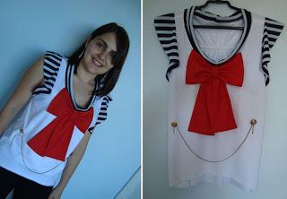 Como Customizar Camisetas marinheiro