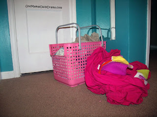 Laundry day tip: Everyone has their own basket.