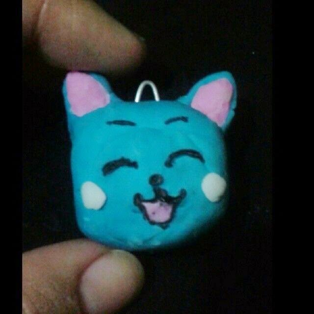 Crazy and Kawaii Desu, cute, Diy kawaii, Fairy Tail, Happy, Polymer clay,