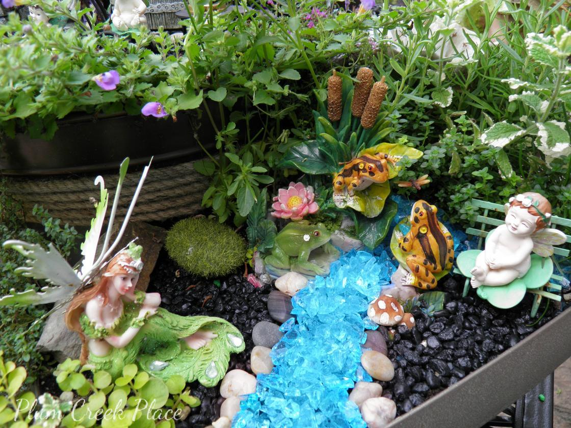 Fairy Garden 2015 Made From Thrift Store Finds.