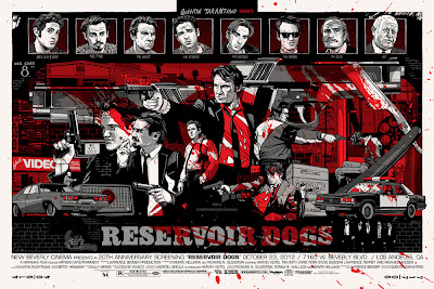 Reservoir Dogs Bloody Variant Screen Print by Tyler Stout