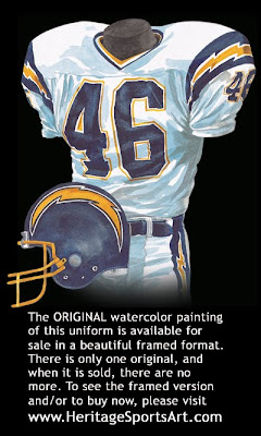 San Diego Chargers 1985 uniform