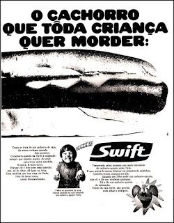 propaganda cachorro quente - Swift - 1971, 1971; os anos 70; propaganda na década de 70; Brazil in the 70s, história anos 70; Oswaldo Hernandez;