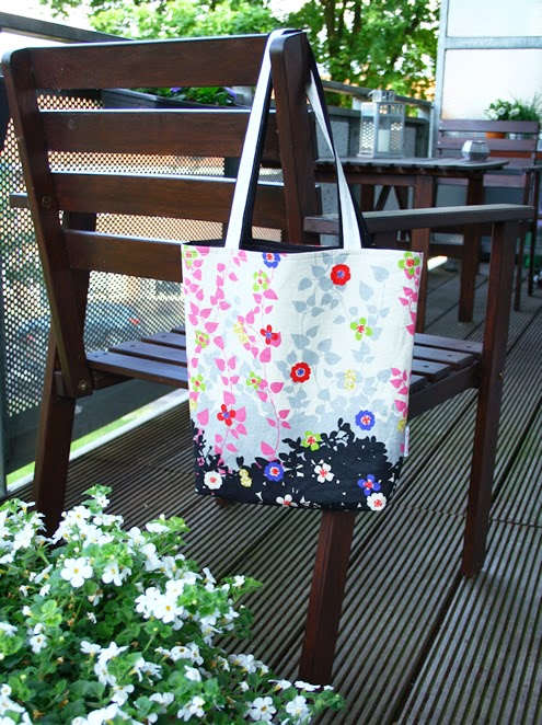Reversible tote bag sewing pattern
