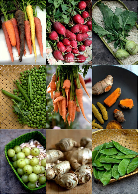 seasonal vegetables
