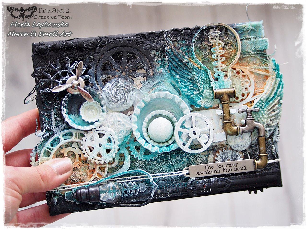 Finnabair: 'The journey...' Mini canvas by Marta Lapkowska