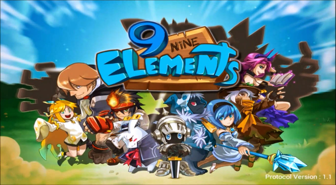 9 Elements : Action fight ball Gameplay IOS / Android