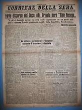 CORRIERE DELLA SERA 15-10-1944  Discorso del Duce alla Brigata Nera Aldo Resega