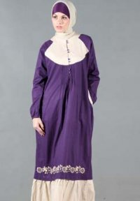 Manet Gamis - 3156 Ungu Tua (Toko Jilbab dan Busana Muslimah Terbaru)