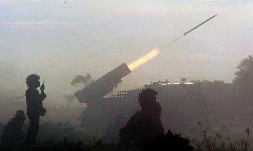 Penembakan MLRS RM-70/Grad