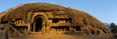A photograph of Bhaja Caves in Pune, India