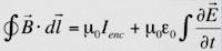 Forme généralisée du théorème d'Ampère