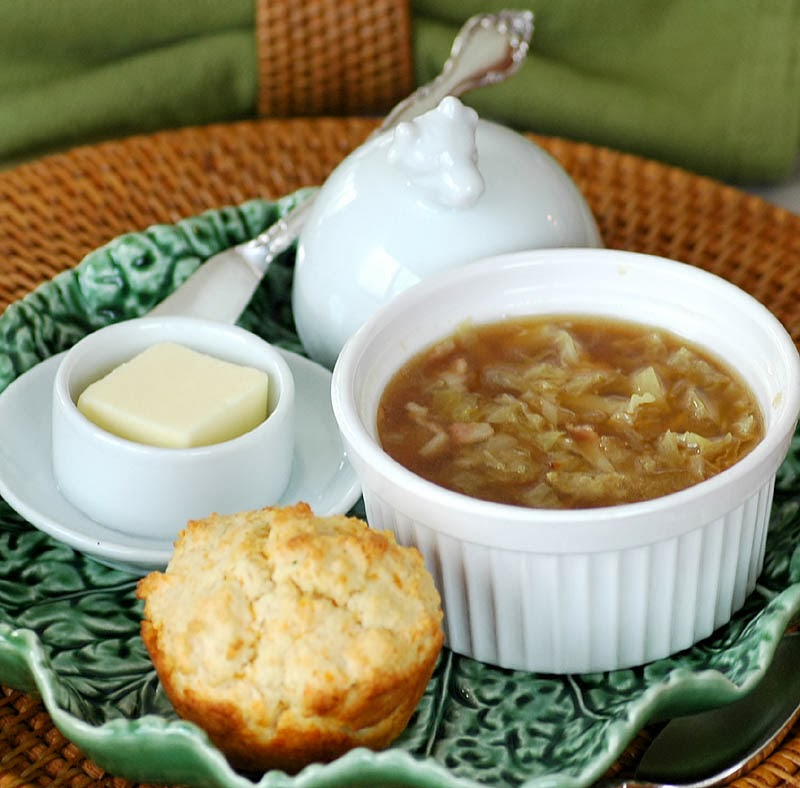 Colcannon Soup with Cheddar Herb Biscuits