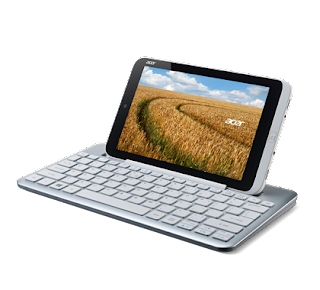 Acer Iconia W3 with its portable keyboard