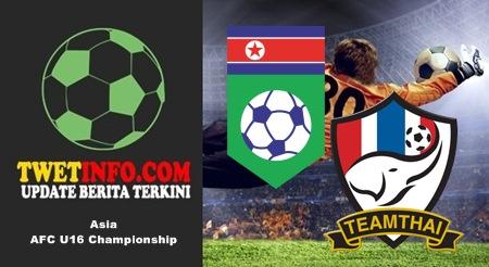 Prediksi Korea DPR U16 vs Thailand U16, AFC U16 06-09-2015