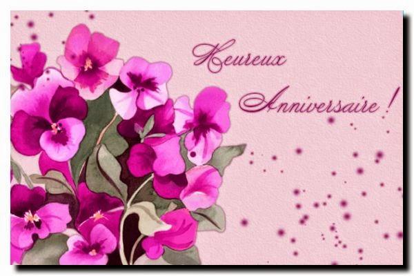 Carte joyeux anniversaire pour facebook