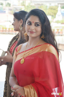 sruthi lakshmi latest photos in saree from muktha wedding