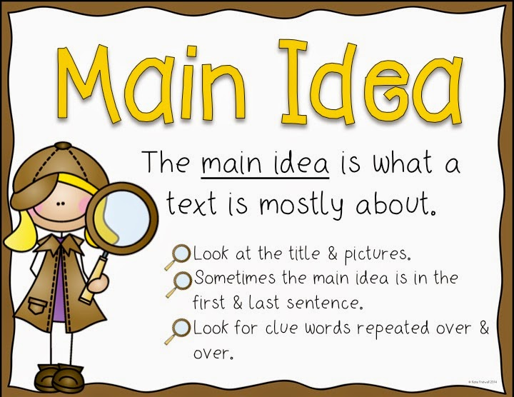 Image result for main idea and details poster