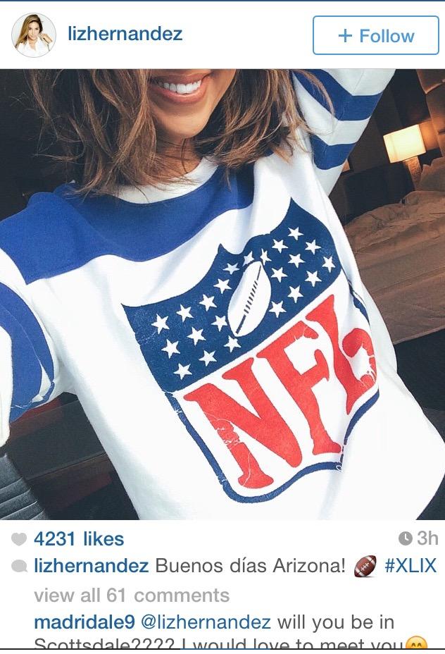 Liz Hernandez Lovely NFL Sweatshirt