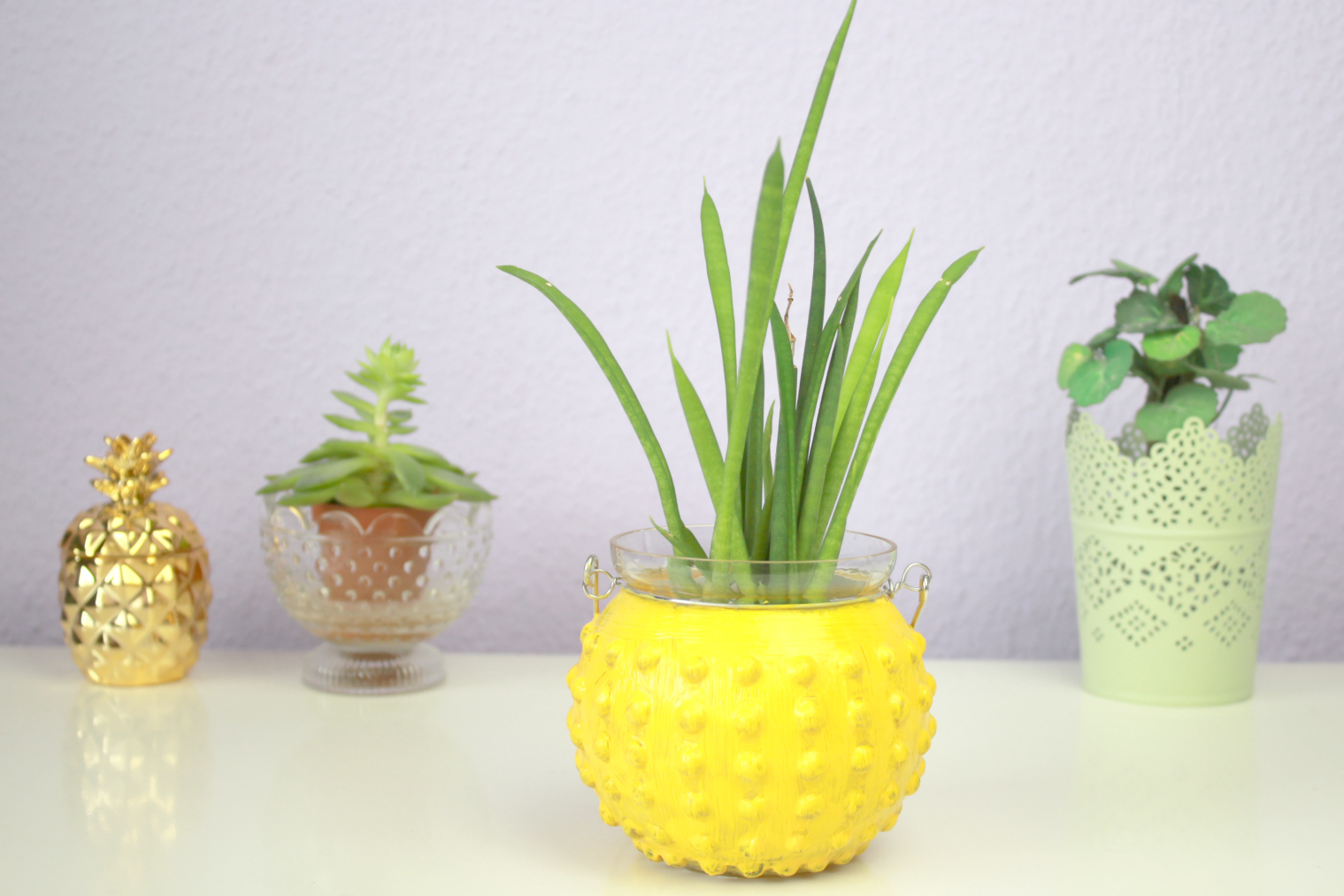 kirschbl te 39 s beauty lifestyle blog aus sterreich diy ananas vase. Black Bedroom Furniture Sets. Home Design Ideas