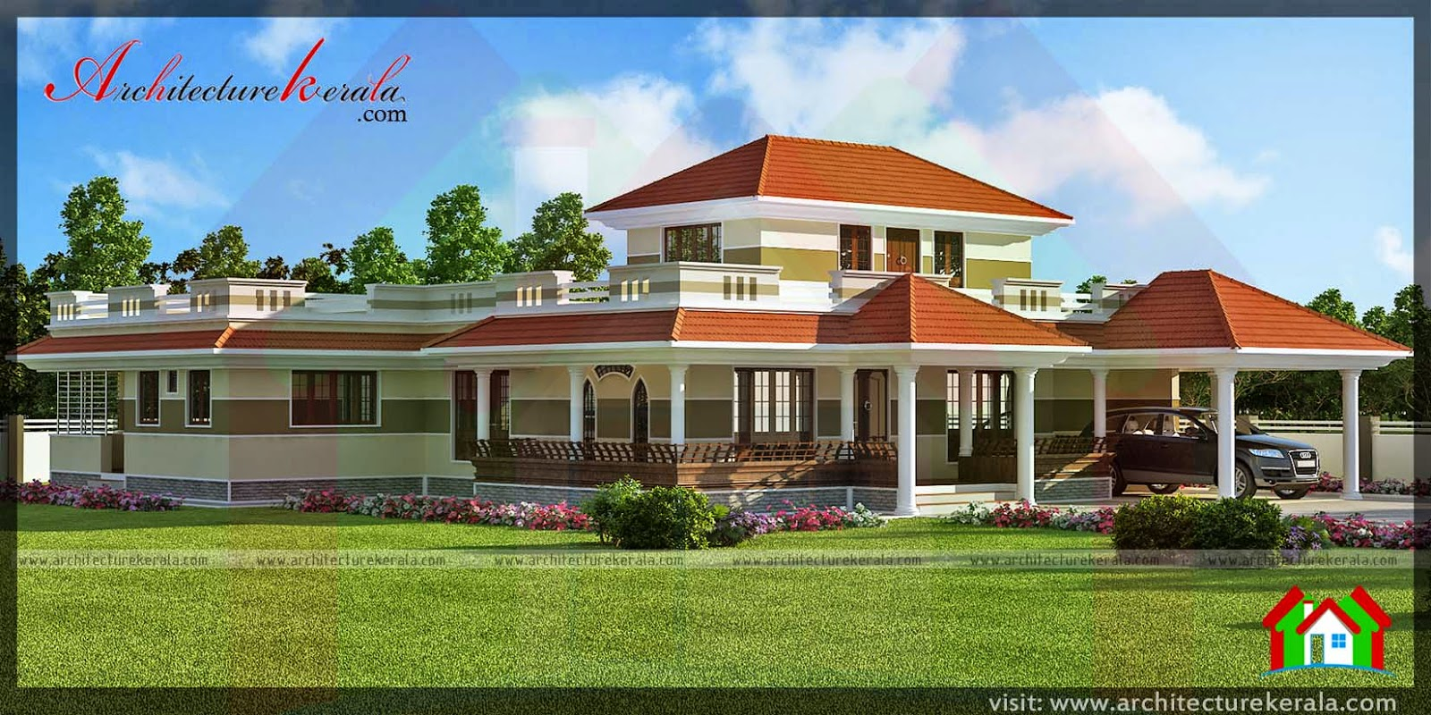 Traditional style kerala house in 3000 sqft architecture for Conventional style home