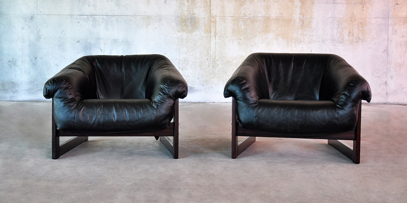 Pair Of Percival Lafer Lounge Club Chairs