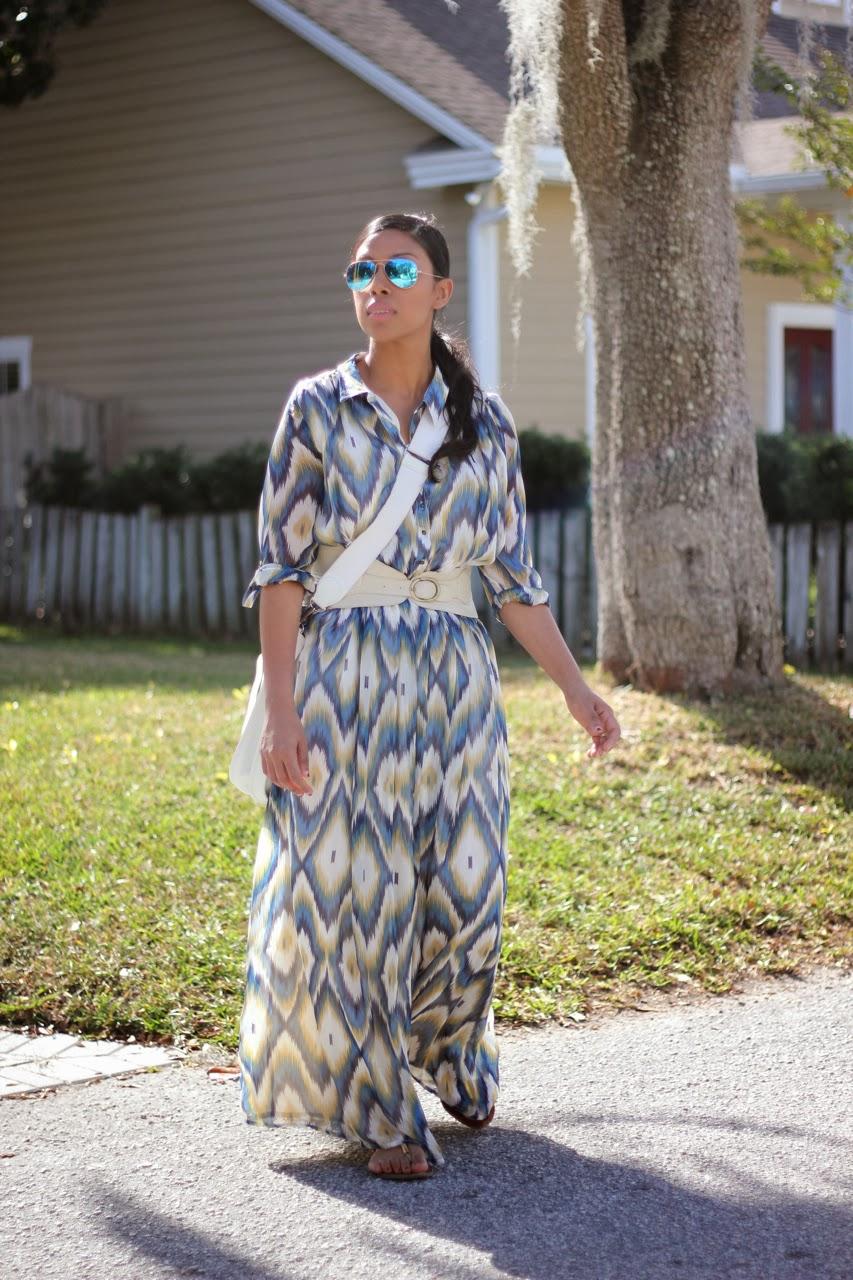 ikat maxi silk shirtdress ray ban blue mirror hermes evelyne