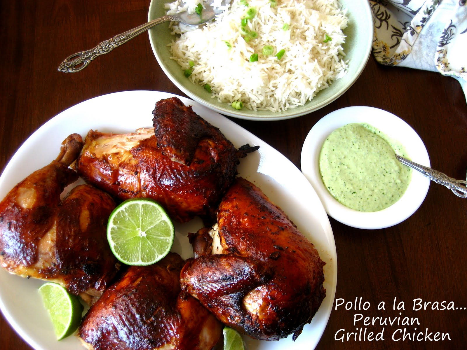 ... Sauce... Peruvian Grilled Chicken with Green Chile Sauce in Chicken