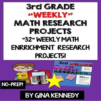 3RD GRADE MATH RESEARCH PROJECTS