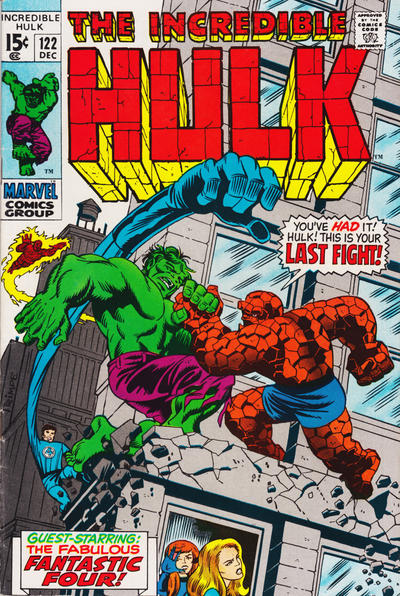 Incredible Hulk #122, Fantastic Four, Hulk vs Thing