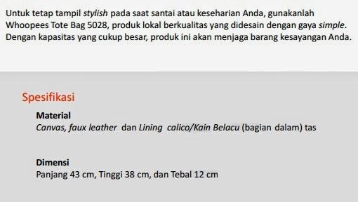 Jual Tas Fashion Pekanbaru Whoopes Tote Bag-5028