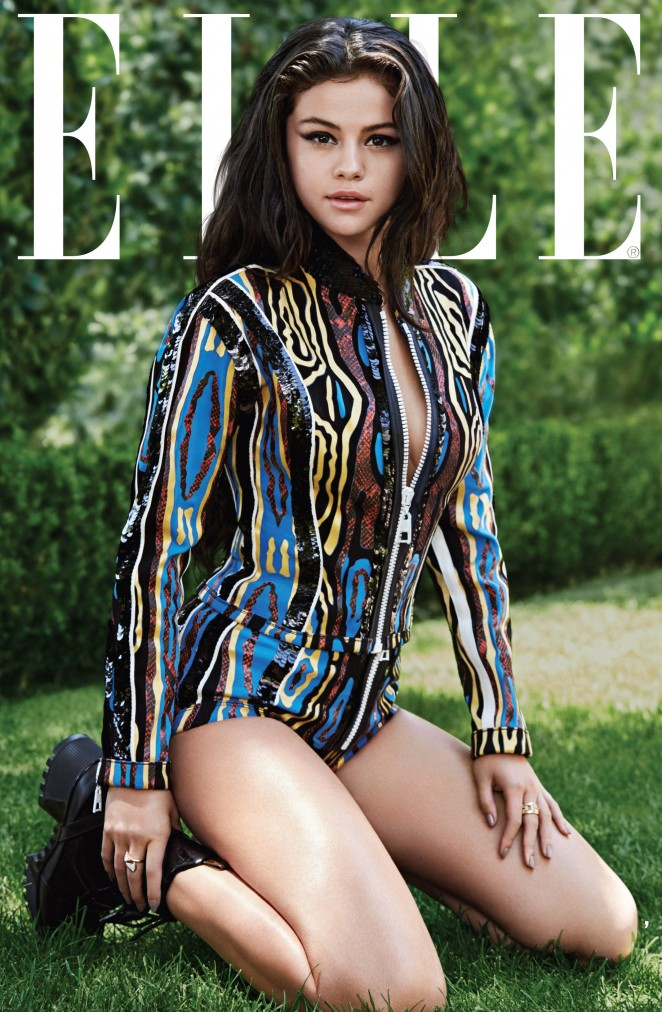 Selena Gomez smoulders for Elle US October 2015