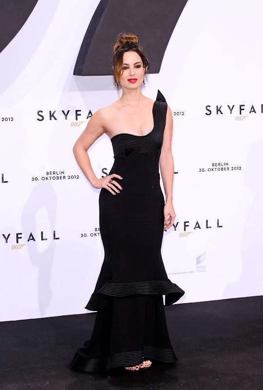 Berenice Marlohe glamorous in a black dress