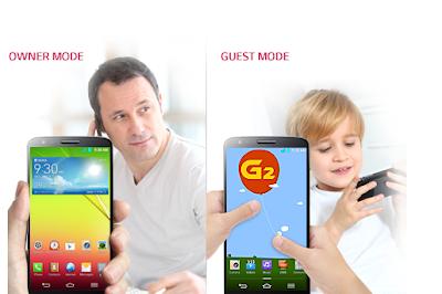 Fitur Guest Mode LG G2