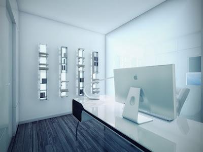 apartamento blanco y negro