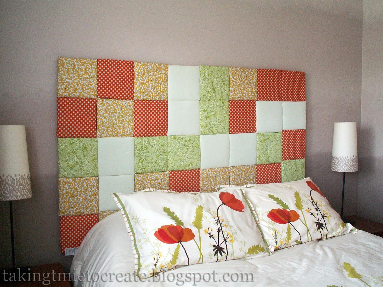 Taking time to create patchwork headboard tutorial - Telas para forrar cabecero cama ...