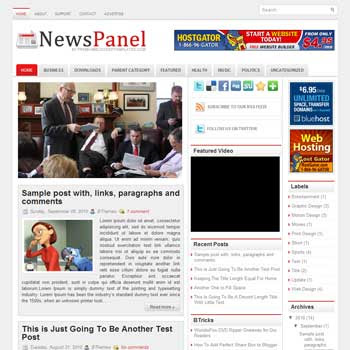 News Panel blog template. template image slider blog. magazine blogger template style. wordpress theme to blogger. template blog 3 column