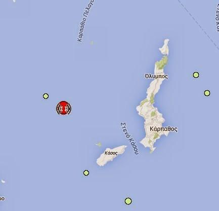 Σεισμός 5,4 στην Κάρπαθο