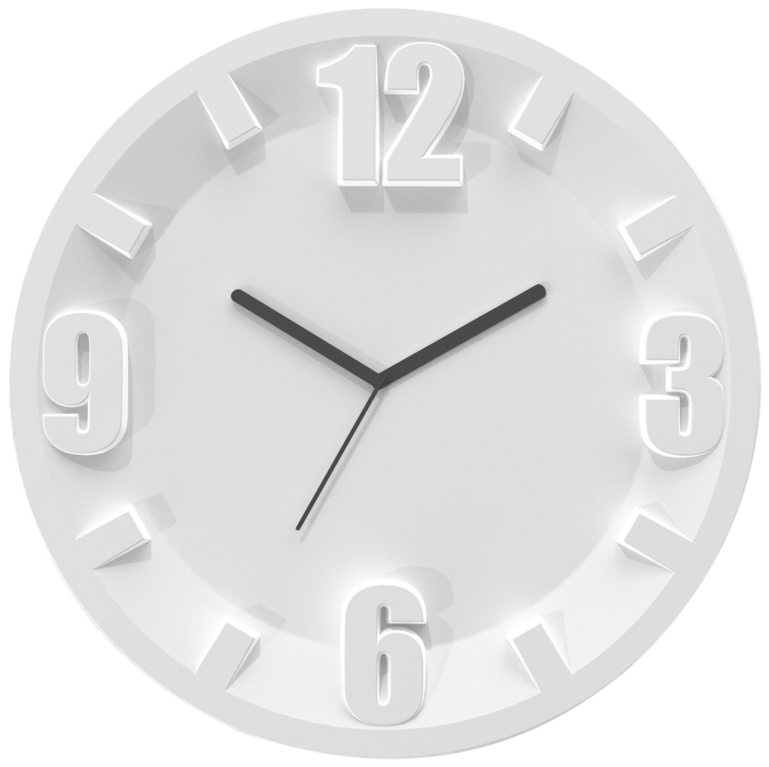 Modern Clocks: 12-Inch White Wall Clock ...