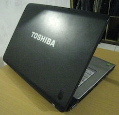jual notebook bekas toshiba satellite a205