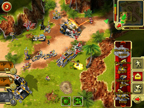 android and iphone apps and command conquer alert for