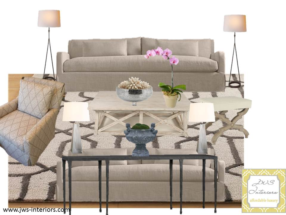 JWS Interiors Sophisticated and Serene Living Room Design