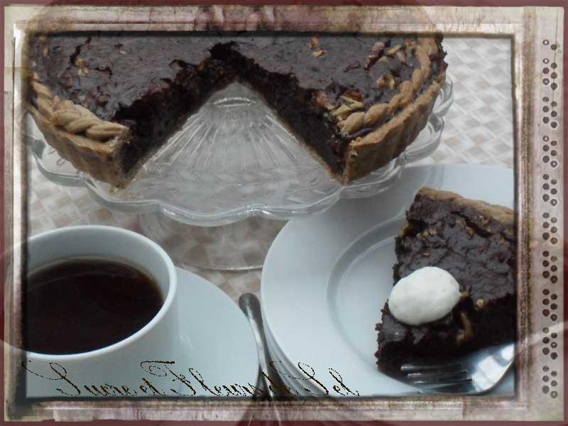 sucre et fleurs de sel tarte au chocolat moka. Black Bedroom Furniture Sets. Home Design Ideas