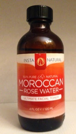 bottle of InstaNatural Moroccan Rose Water Toner