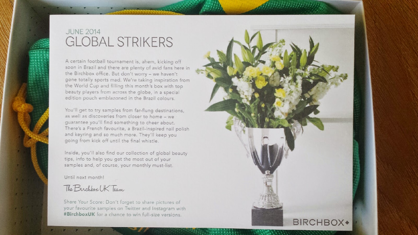 Birchbox Global Strikers June 2014